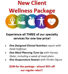 New Client Wellness Package - Vibrant Living Wellness center