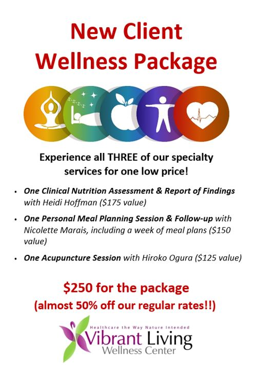 New Client Wellness Package Special