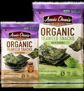 healthy snack Annie Chun's Organic Seaweed Snacks